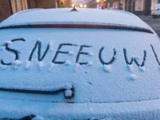 Het sneeuwt! Maar lang kunnen we er niet van genieten in Oost-Nederland...