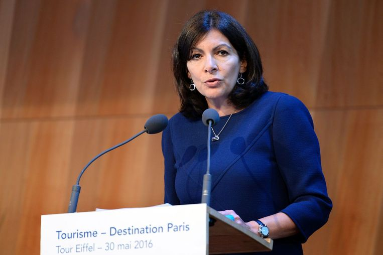 Burgemeester Anne Hidalgo van Parijs. Beeld afp