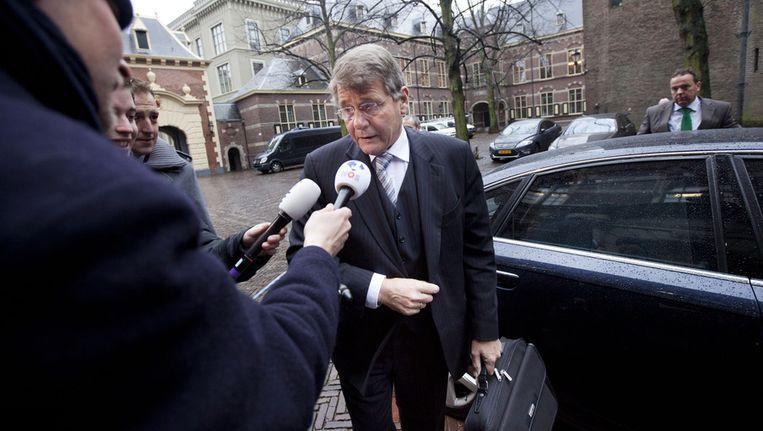 Piet Hein Donner komt aan bij de ministerraad in Den Haag. © ANP Beeld