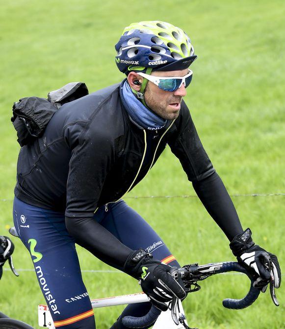 Valverde ergens tussen Luik en Bastenaken vorige week