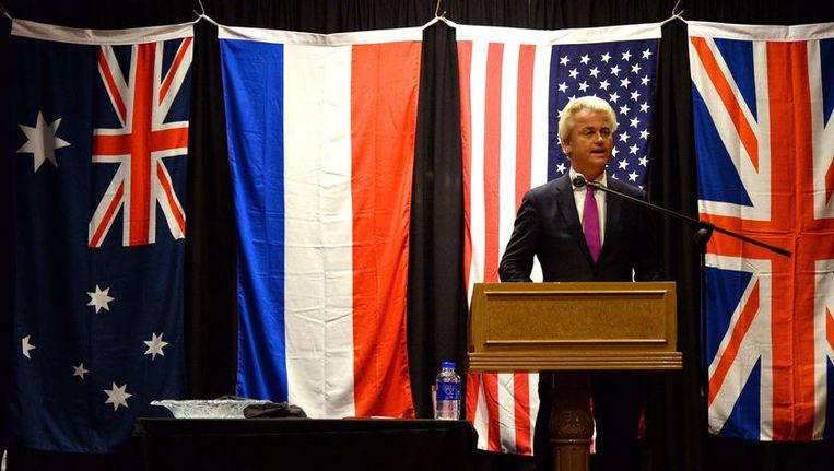Geert Wilders in Sydney, vandaag. Beeld afp