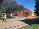 Brand in een opslagschuur bij D'n Bongerd in Winssen.