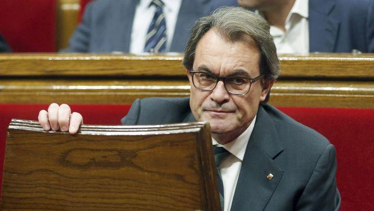 Artur Mas, voorlopig niet opnieuw de Catalaanse premier.