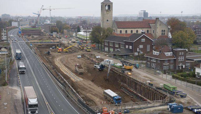 De tunnel van de A2 bij Maastricht levert Ballast Nedam veel hoofdbrekens op. Beeld anp