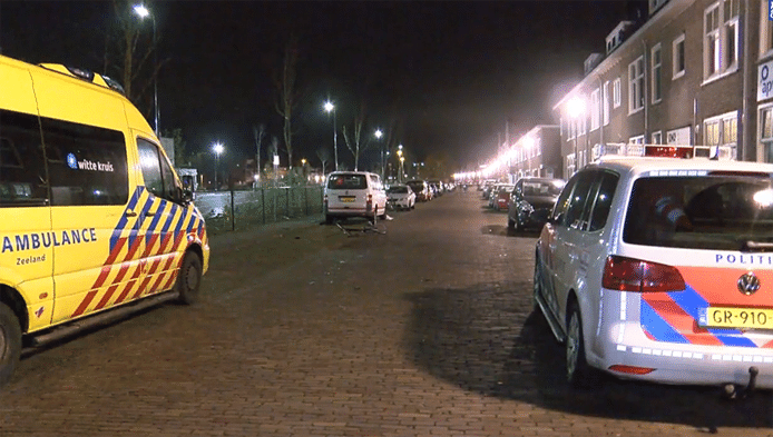 De fietser werd aangereden op de Koudekerkseweg.