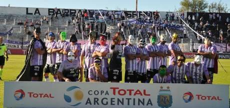 Argentijnse spelers komen voor bekerduel als superhelden op