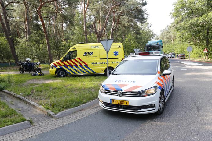 Motorrijder gaat onderuit in Son, slachtoffer gewond naar ziekenhuis