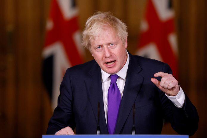 De Britse premier Boris Johnson pleit voor een drastische vermindering van de uitstoot van broeikasgassen.