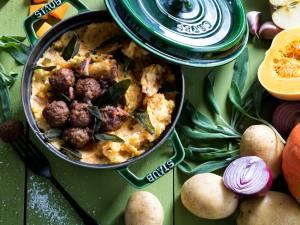 Wat Eten We Vandaag: Pompoenstamppot met spekjes en appel