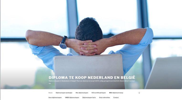 Site met diploma' voor Nederland en België. Beeld