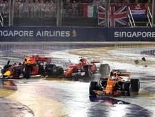 Drama voor Verstappen: botsing met Raikkonen in eerste bocht