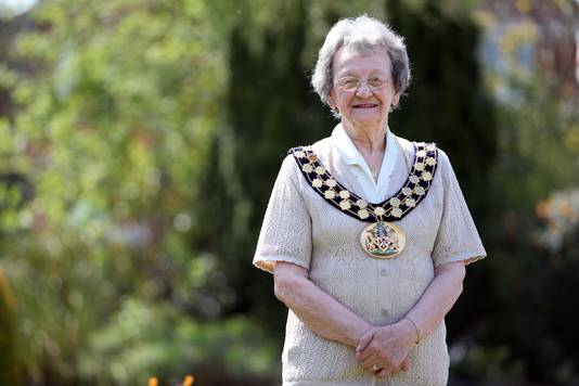 Mary Dalton, de 94-jarige burgemeester van het Engelse plaatsje Newton Aycliffe, voelt zich nog steeds een 'Bikse'.