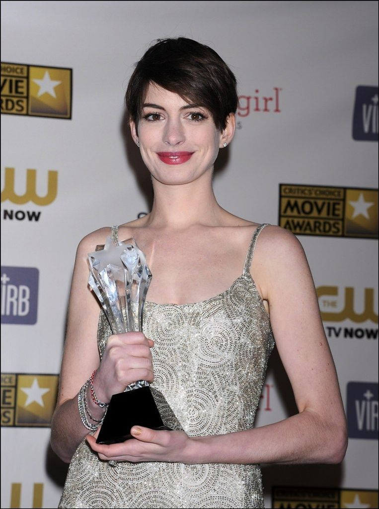 Anne Hathaway op de Critics' Choice Awards