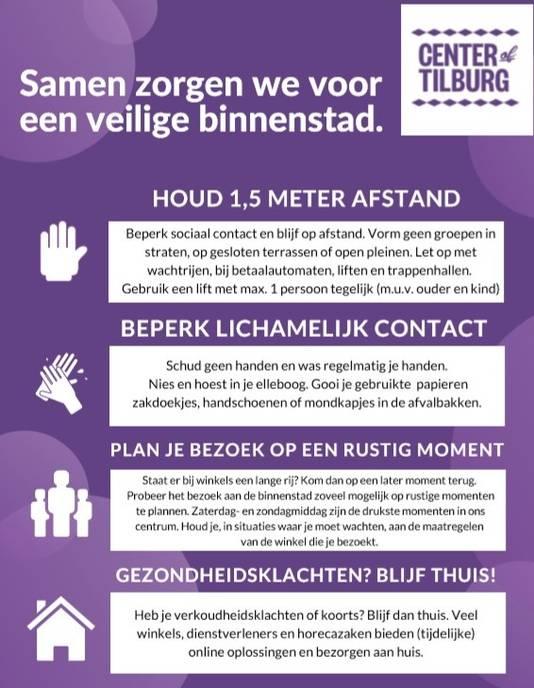 Een deel van de marketingcampagne om mensen veiliger te laten winkelen in Tilburg.