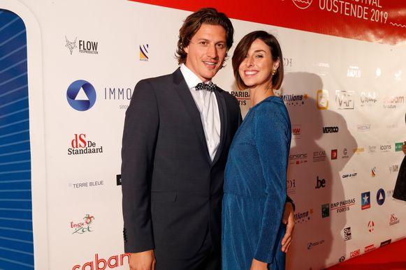 Elisa Guarraci met haar partner Nico op het Filmfestival van Oostende, vorig jaar