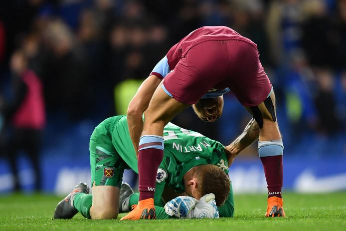 David Martin is na het duel op Stamford Bridge overmand door emoties.