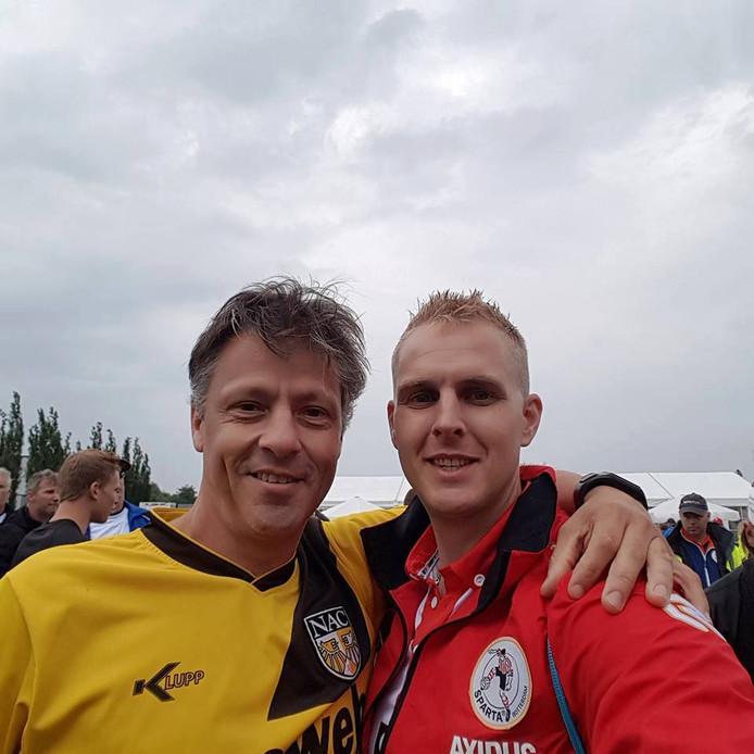 Ruud Ammerlaan (rechts) Van Roparunteam SSRT88.