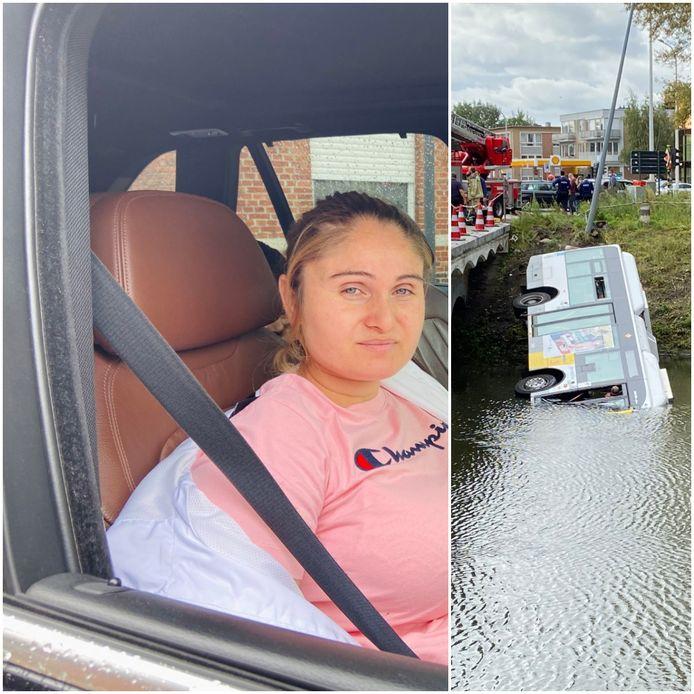 Sanda Cociu zat op de Lijnbus die in de vaart reed.