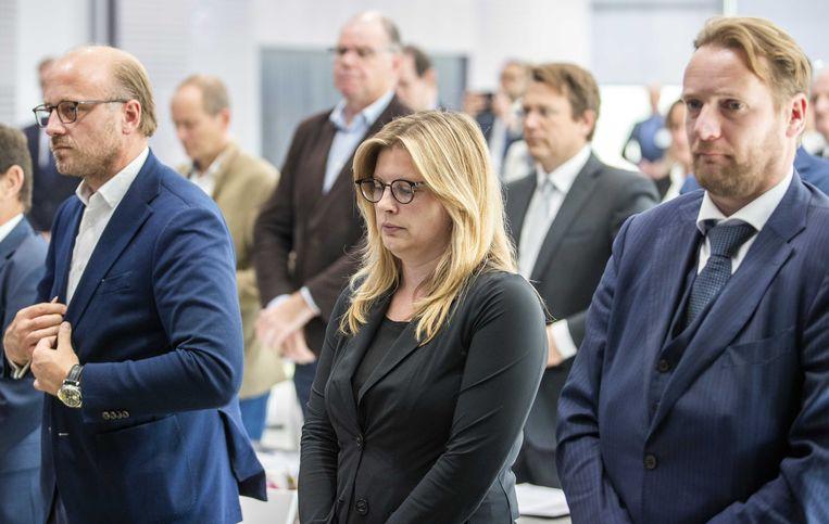 Tijdens de vergadering van de Orde van Advocaten wordt een minuut stilte gehouden voor doodgeschoten advocaat Derk Wiersum. De raadsman van kroongetuige Nabil B. werd op straat in Amsterdam-Buitenveldert vermoord. Beeld ANP