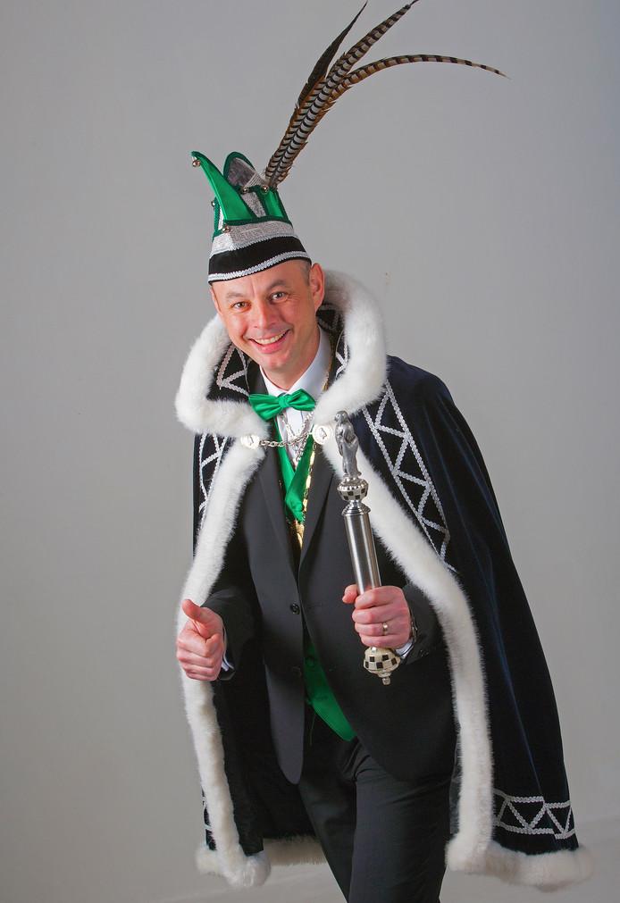 Prins Thijs d'n 1e van carnavalsstichting De Kraaienvangers.