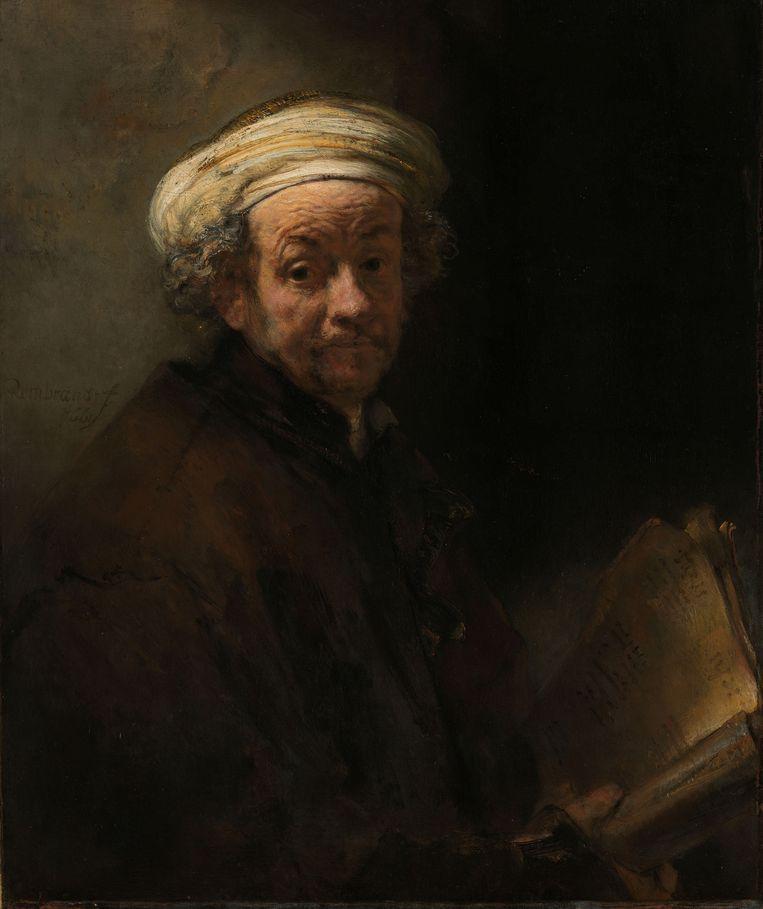 Rembrandt van Rijn, Zelfportret als de apostel Paulus, 1661 Beeld