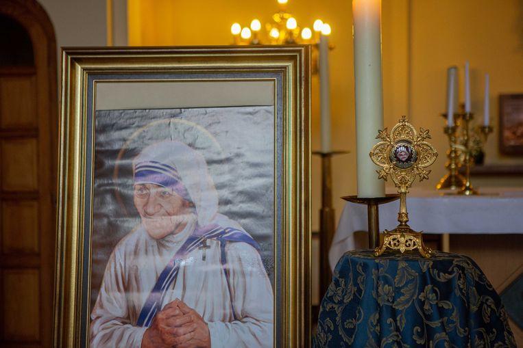 De kapel bij de zusters-begijnen Sacramentinen