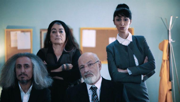 Beeld uit de winnende film Radio Dreams, met links de `Iraanse Bob Dylan' Mohsen Namjoo. Beeld