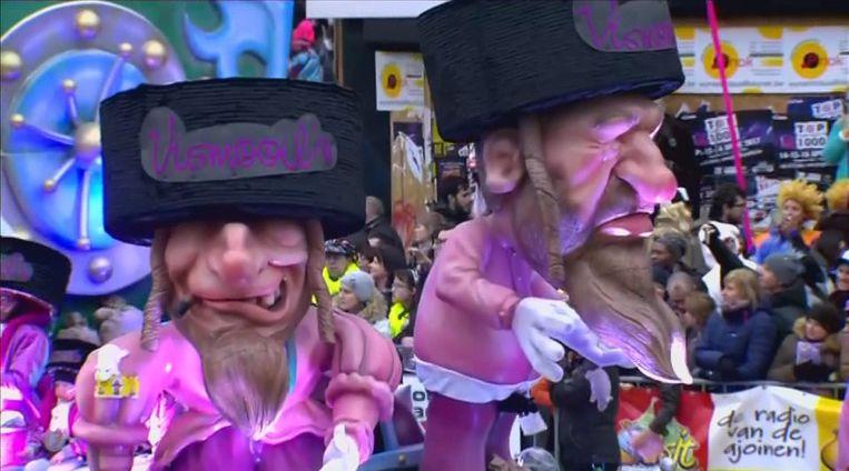 Vorig jaar veroorzaakte een praalwagen een ongekende heisa met poppen in de vorm van karikaturale orthodoxe joden, compleet met haakneuzen, pijpenkrullen en een geldkist.