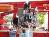 Brandweer vangt papegaai met hoogwerker en pinda's