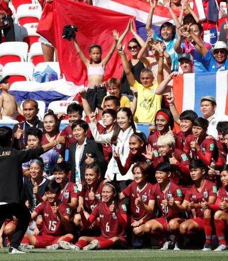 Vreugdetranen bij Thailand na eretreffer tegen Zweden