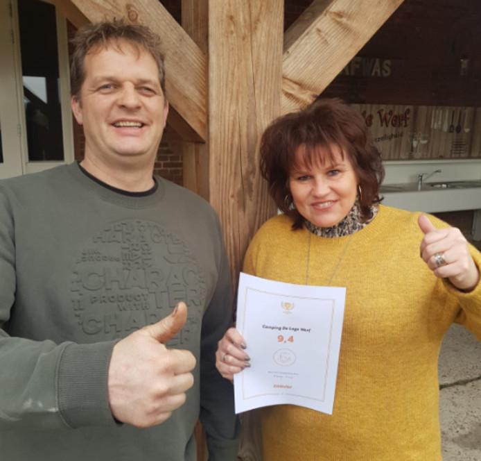 Eigenaars Twan en Miranda Buijs zijn heel blij met het gemiddelde van 9,4.