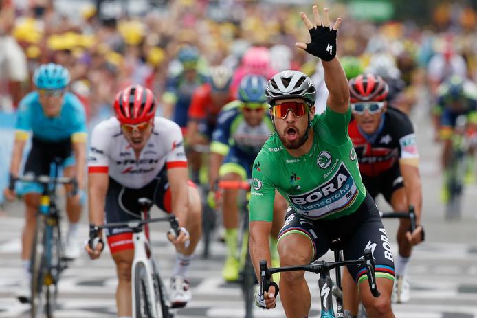 Peter Sagan boekte in Valence zijn derde etappezege in deze Tour.