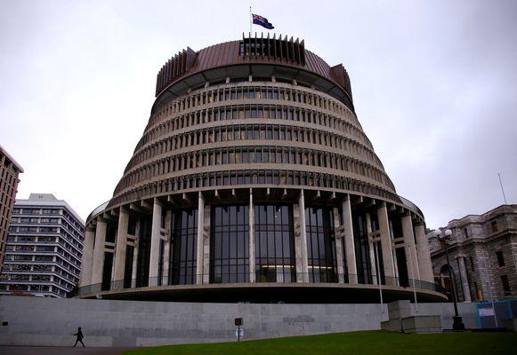 Het Nieuw-Zeelandse parlementsgebouw in Wellington.
