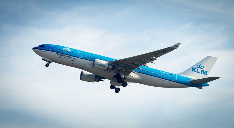 De eerste biofuel vlucht van vliegtuigmaatschappij KLM naar Aruba vond al in 2014 plaats.  Beeld ANP