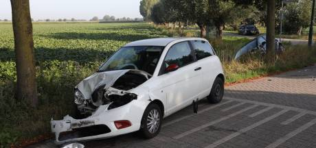 Auto belandt in sloot door ongeluk met ander voertuig in Berghem