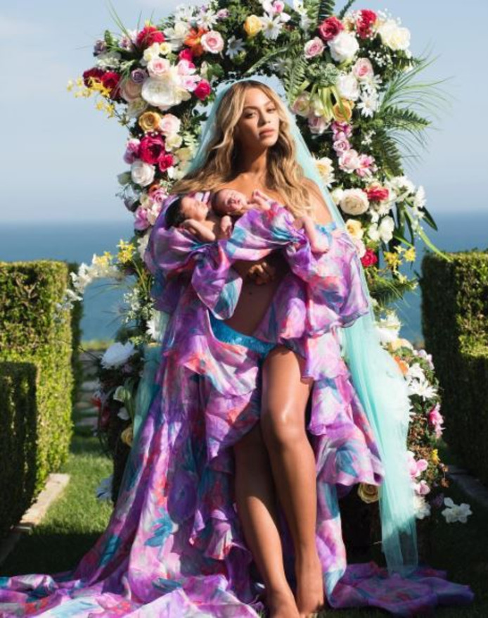 Beyoncé met haar tweeling.
