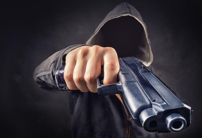 stockadr justitie geweld bedreiging pistool overval gewapend wapen