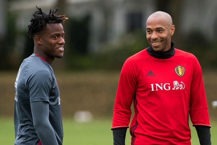 Henry op training met Batshuayi.