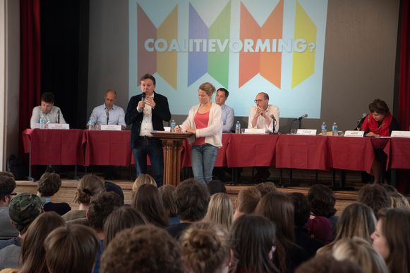 Kopstukken debat College Melle. Met Oost-Vlaamse kandidaten voor Vlaams, Federaal en Europees parlement.