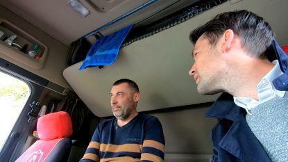 """Zo leven buitenlandse truckers in ons land: """"Ik verdien hier 2000 euro per maand"""""""
