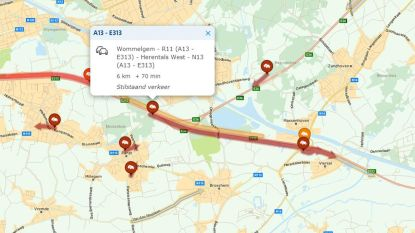 Nog een uur file op E313 richting Hasselt na ongeval met vier wagens in Massenhoven