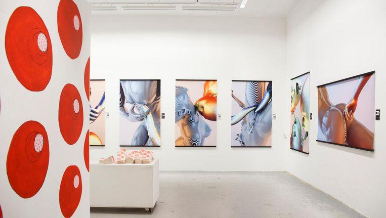 Voor de zevendaagse expositie bij WG Kunst over seks zijn vier jonge kunstenaars aan het werk gegaan. Beeld Carly Wollaert