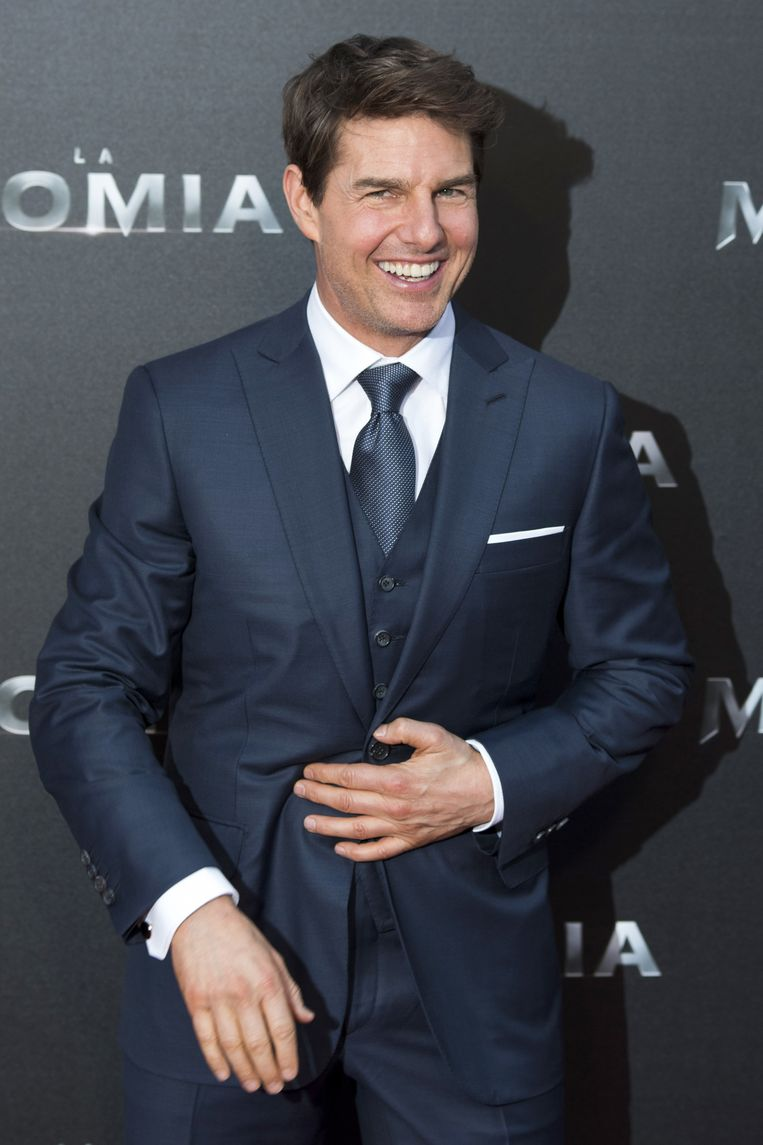Tom Cruise tijdens de première van 'The Mummy' in mei 2017 in Madrid.