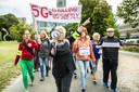 Anti 5G-demonstranten in Den Haag afgelopen september.
