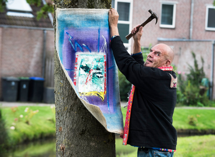 Kunstenaar Ed Bos.