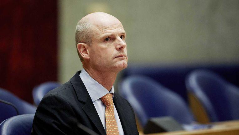 Minister Stef Blok in de Tweede Kamer tijdens een debat over het rapport van de tijdelijke commissie ICT. Beeld anp