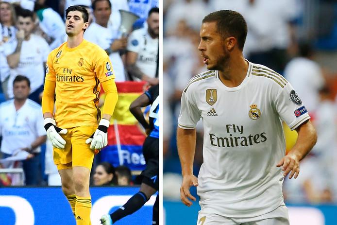 Thibaut Courtois et Eden Hazard.