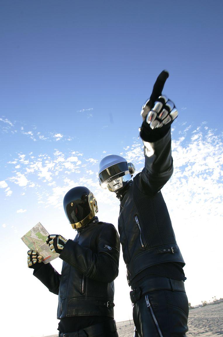 Het Franse duo Daft Punk. Beeld Los Angeles Times via Getty Imag
