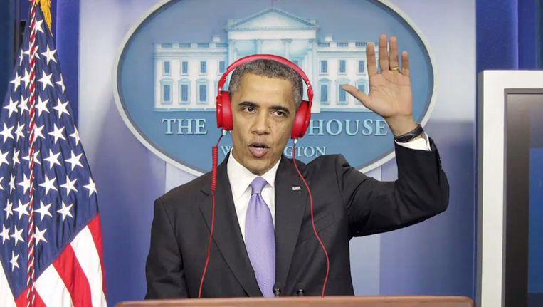 President Obama in het openingsfilmpje van zijn speech. Beeld YouTube