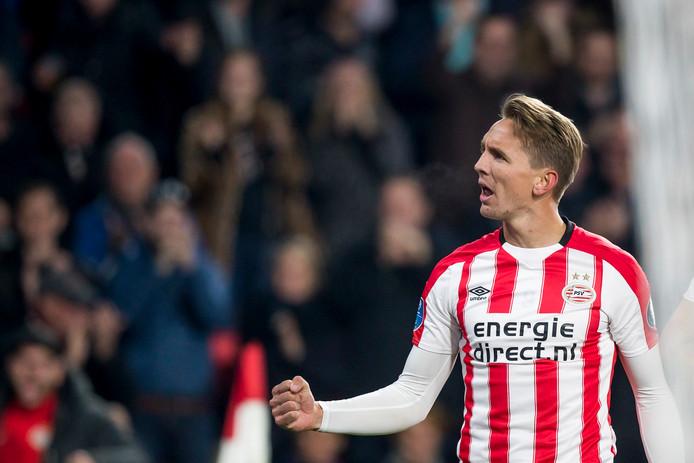 Luuk de Jong na zijn doelpunt tegen FC Twente.